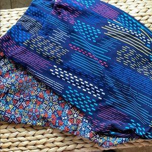 2 pair LulaRoe TC 2 leggings